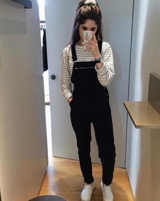 jumpsuit overalls black overalls