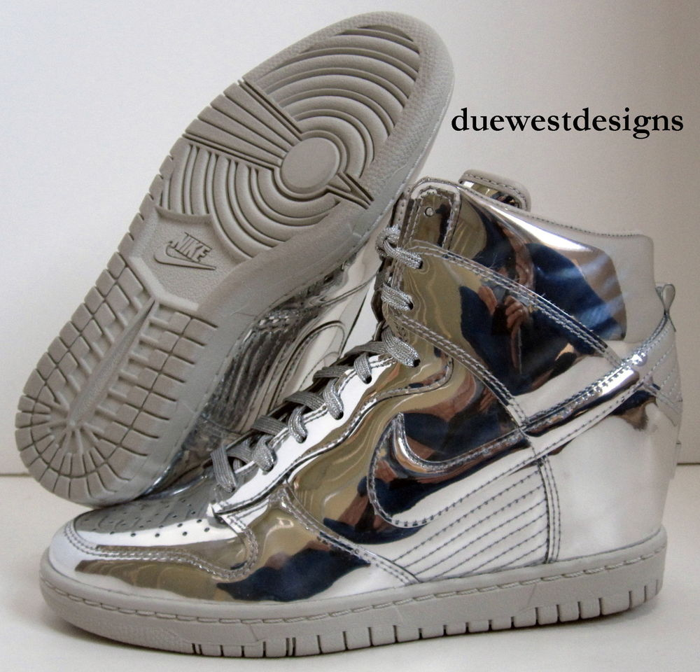 hot sale online 625fa 373dc Nike Dunk Sky Hi Liquid Metal Pack Silver 6 5 Stainless Stee