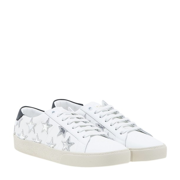 Saint Laurent california sneakers silver white shoes