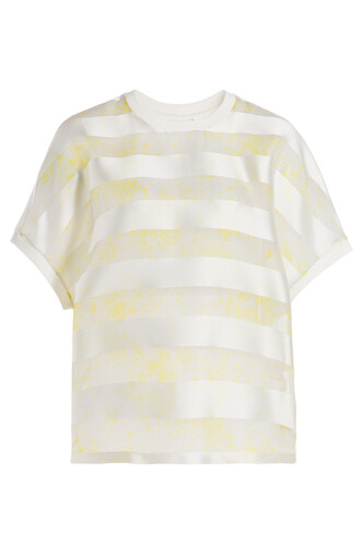 t-shirt shirt silk white top