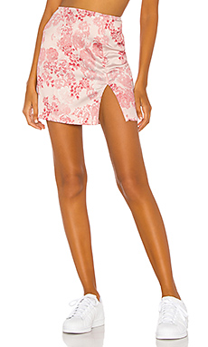 h:ours Mariella Mini Skirt in Pink Floral from Revolve.com