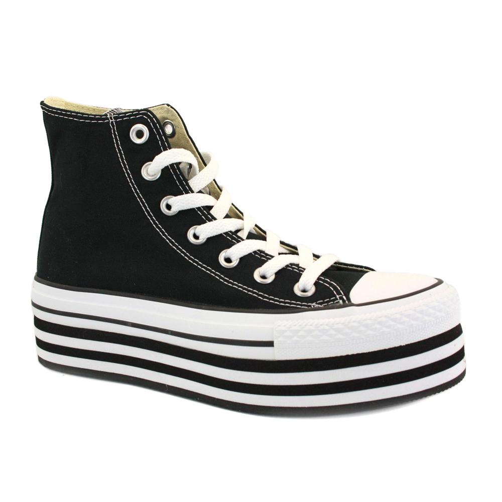 chaussure chuck converse taylor 136894c femme semelle talon compens e noir ebay. Black Bedroom Furniture Sets. Home Design Ideas