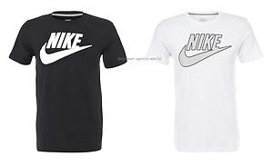 NIKE Futura T-Shirt/Tee Iconic Swoosh Logo Black White FREE UK P&P | eBay