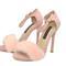 4 inch heels - pink suede fur sandals