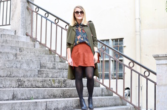 paris grenoble blogger coat blouse shoes
