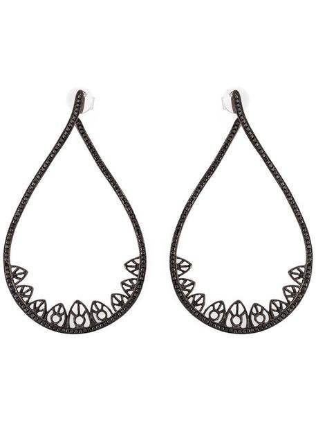 Joëlle Jewellery women earrings gold black jewels