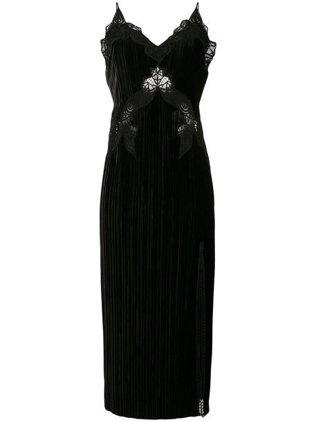 Jonathan Simkhai dress slip dress women spandex lace black silk velvet