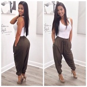 pants,joggers,green,olive green,gorgeous