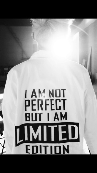 shirt jacket white black korean korea rapmonster t-shirt perfect limited editions limited blouse