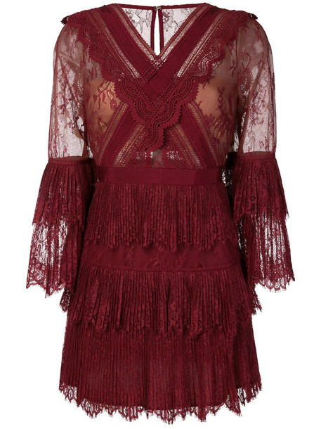 self-portrait dress lace dress women lace red