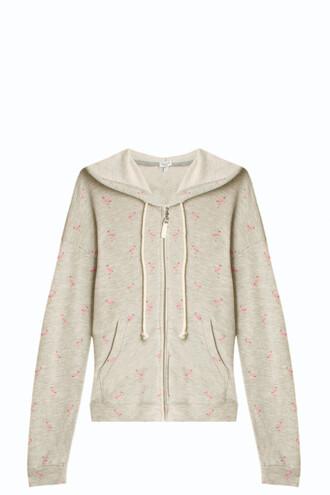 hoodie flamingo grey sweater