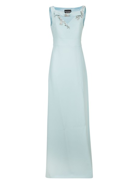BOUTIQUE MOSCHINO dress long dress long light blue light blue