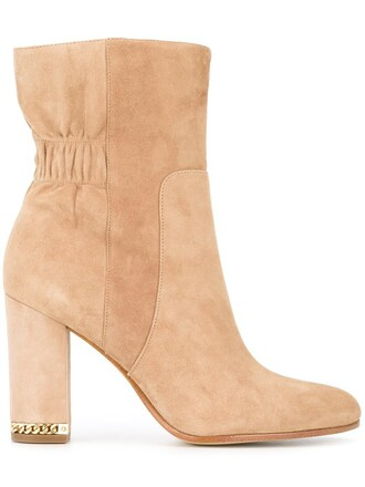 heel chunky heel women boots heel boots leather nude suede shoes