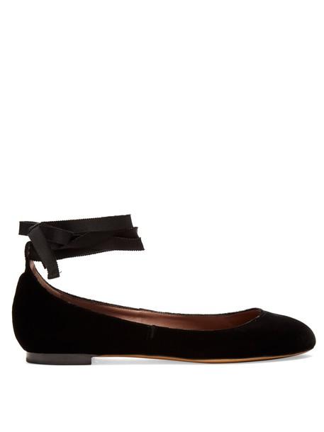 tabitha simmons ballet flats ballet flats velvet black shoes