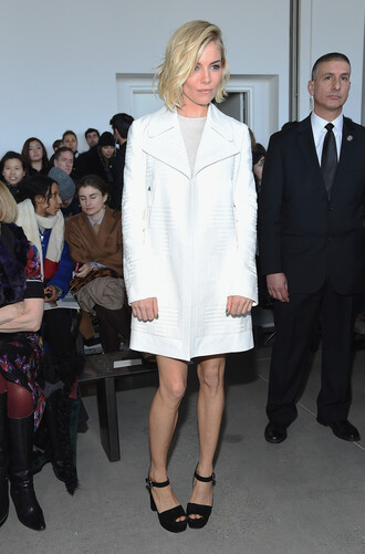 coat fashion week 2015 sandals platform shoes sienna miller shoes