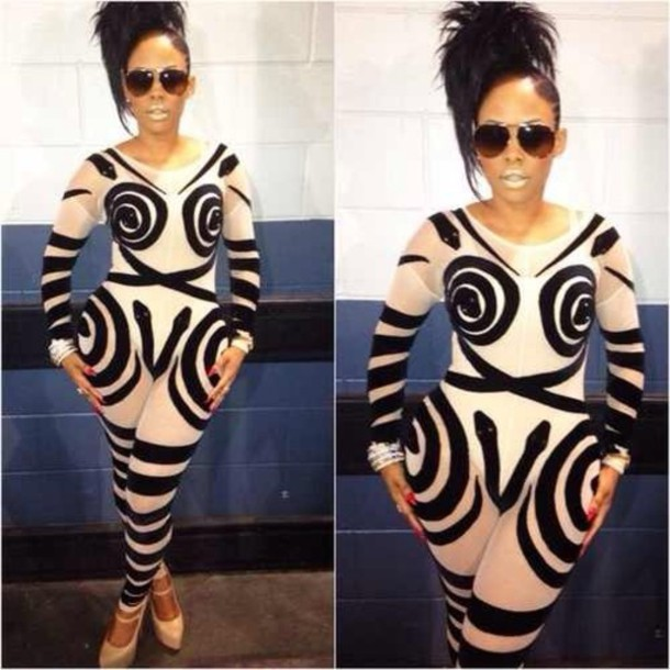 sunglasses keyshia kaoir bodysuit pants