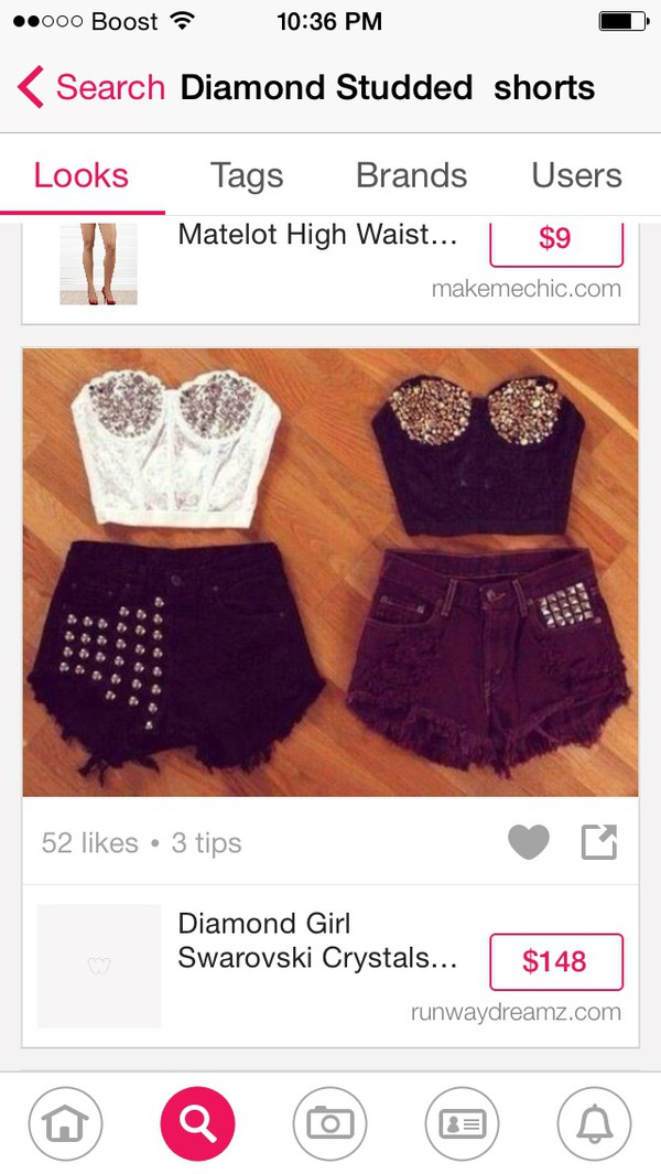 burgundy acid wash high waisted clothes studded