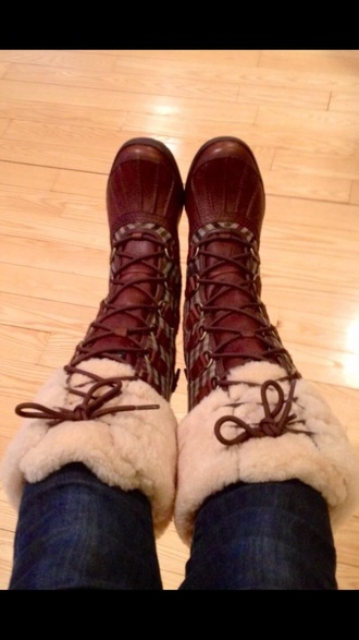boots burberry duck boots