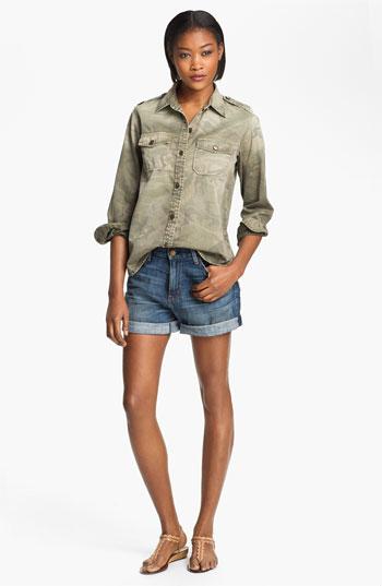 Current/elliott 'perfect shirt' camo shirt