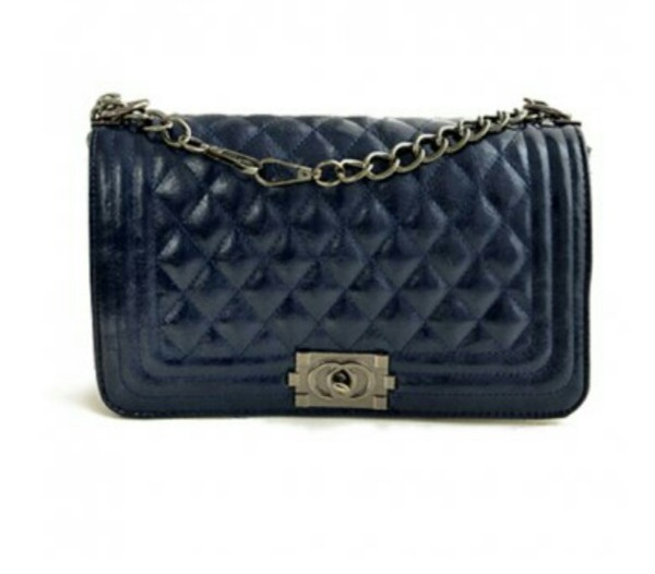 bag dark blue bag chain strap bag clutch shoulder bag