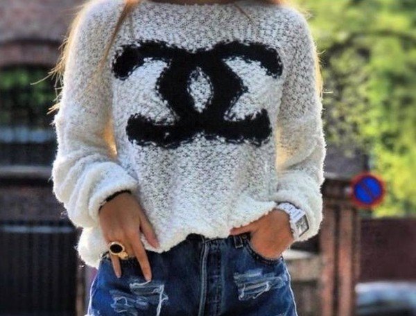 sweater pretty fashion long sleeves doublec white fall outfits fluffy shirt outfit topshop sweater white sweater top for women girl dress cc shirt cc logo