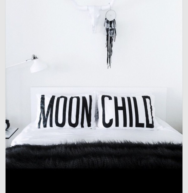 home accessory bedding pillow white black boho decor dreamcatcher