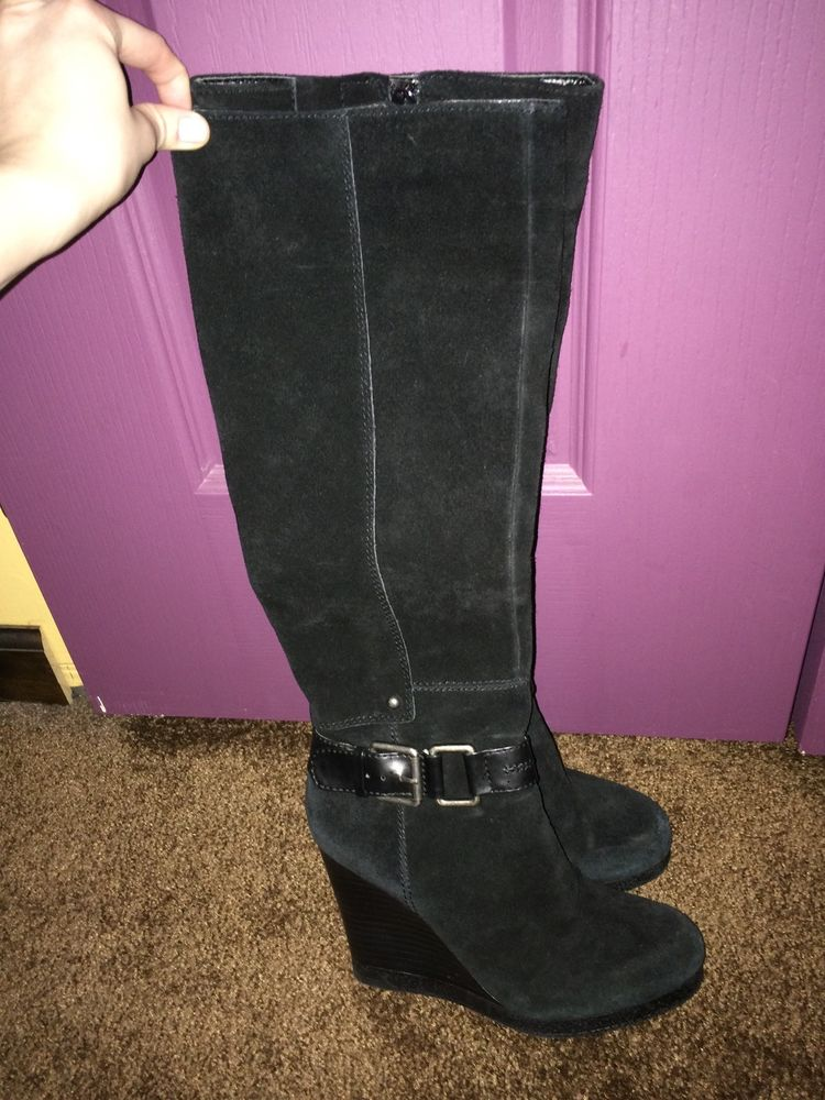 Nine west tall boot nw7 nini size 6.5 black