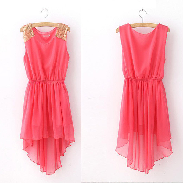 high low dress chiffon dress