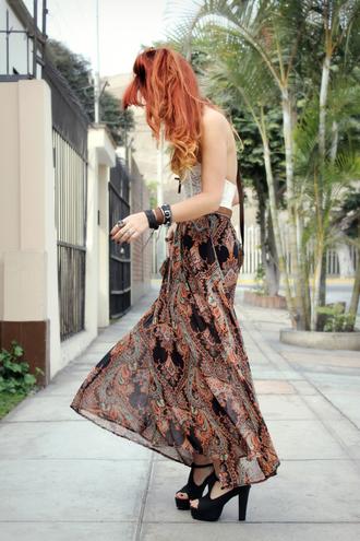 le happy boho maxi skirt black skirt brown skirt