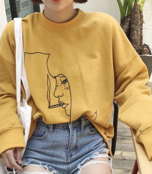 sweater yellow smoke