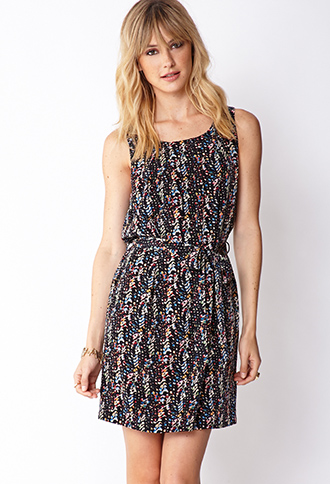 Abstract Belted Shift Dress | FOREVER21 - 2000126570