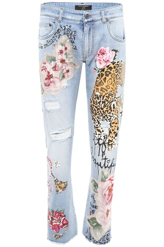 jeans print leopard print