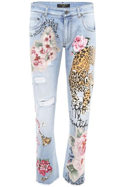 Dolce & Gabbana jeans print leopard print