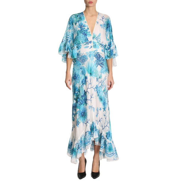 Roberto Cavalli dress women turquoise