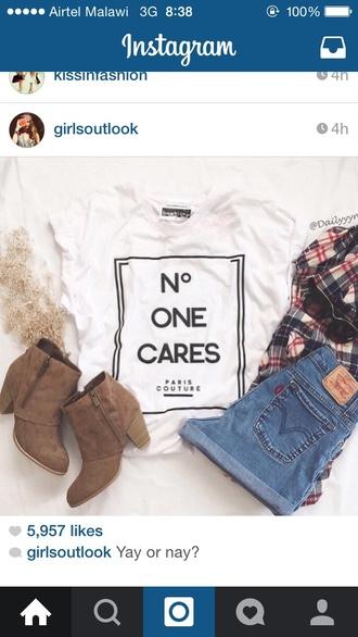 shirt no one cares tshirt t-shirt graphic tshirt cute tshirt printed t-shirt