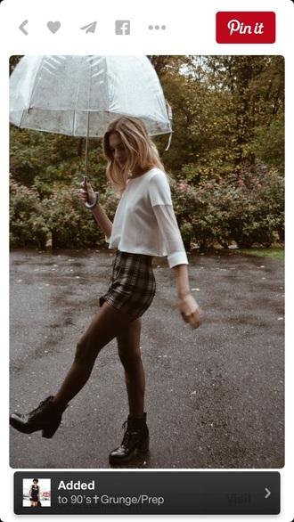 skirt grunge soft grunge mini skirt 90s style plaid style fashion