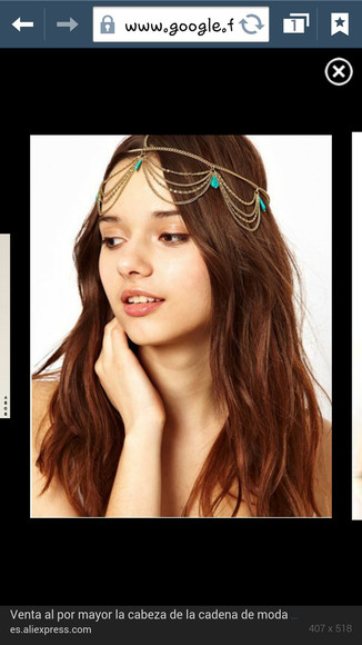 jewels chain jewelery hairbrand hair accessory hairchain accessory hair spain