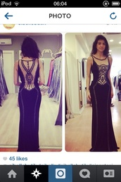 dress,black,prom,pretty,back,embellished,jewels,diamonte,design,tight