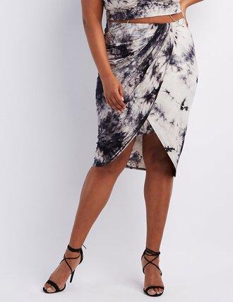 skirt tie dye wrap skirt