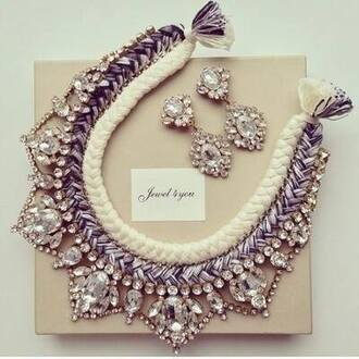 jewels necklace earing
