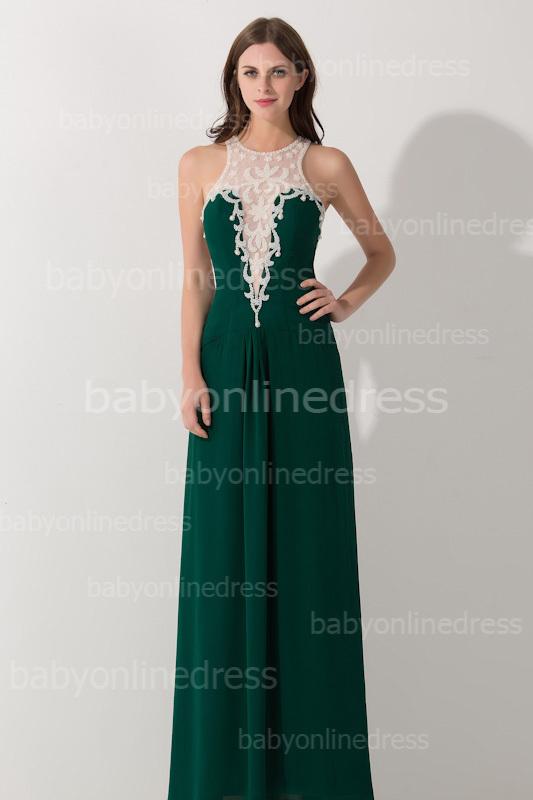 Green Formal Evening Dress