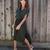 Larissa Button Down Dress - Olive