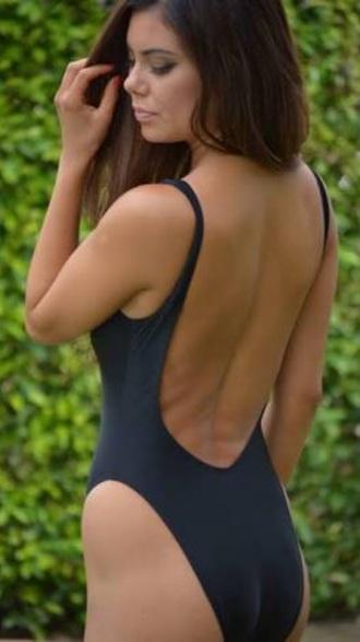 swimwear low back one piece swimwear