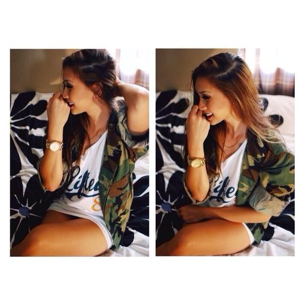 blouse camouflage camouflage jacket