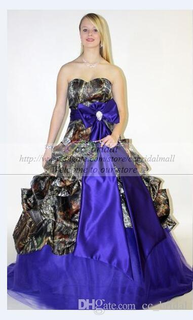 Search Wedding Dresses 2015 Spring Summer Camo Wedding Dresses Royal Blue  Draped Bog Bow Knot Sweetheart Ball Gown Bridal Gowns Plus Size Wedding ...