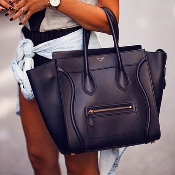 bag leather black celine black bag celine black bag gold details style leather bag belt purse handbag girly crossbody bag short shorts love jacket lovely style black hand bag celine bag