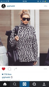 sweater,sunglasses,gigi hadid,squared frame glasses,black,where  can i find these sunglasses? please help!