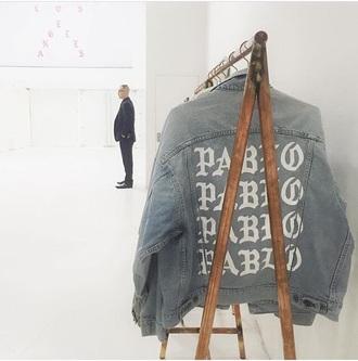 jacket kanye west yeezy yeezus denim jacket grunge