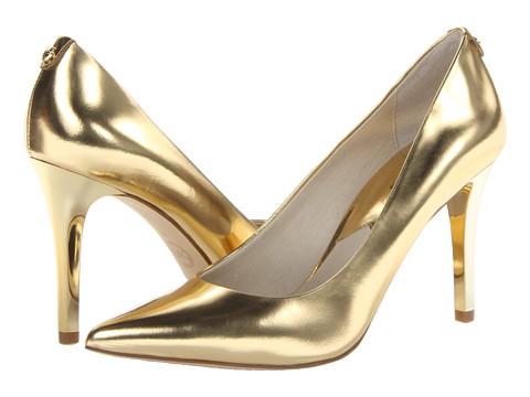 MICHAEL Michael Kors Elisa Pump Gold - Zappos.com Free Shipping BOTH Ways
