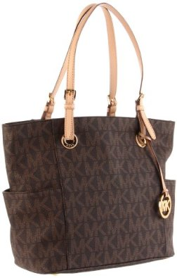 Amazon.com: MICHAEL Michael Kors Signature Tote,Brown,one size: Michael Kors: Shoes